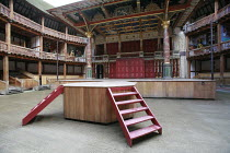 KING LEAR   by Shakespeare   design: Jonathan Fensom   director: Dominic Dromgoole ~stage   set   empty~Shakespeare^s Globe (SG), London SE1         02/05/2008