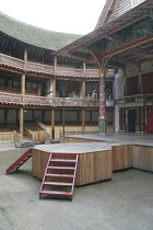 KING LEAR   by Shakespeare   design: Jonathan Fensom   director: Dominic Dromgoole ~set   stage   empty~Shakespeare^s Globe (SG), London SE1         02/05/2008