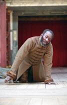 KING LEAR   by Shakespeare   design: Jonathan Fensom   director: Dominic Dromgoole <br>,III/vii - Gloucester blinded: Joseph Mydell (Gloucester),Shakespeare^s Globe (SG), London SE1         02/05/2008...