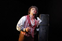TOSCA   by Puccini   conductor: Antonio Pappano   design: Paul Brown   original director: Jonathan Kent <br>,Act III - ^E luceman le stelle^: Jonas Kaufmann (Mario Cavaradossi) ,The Royal Opera / Cove...