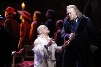 SIMON BOCCANEGRA (1881)   by Verdi   conductor: John Eliot Gardiner   ,set design: John Gunter   costumes: Deirdre Clancy   director: Ian Judge <br>,Act III - l-r: Marco Vratogna (Paolo Albiani), Ferr...