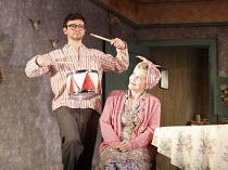 THE BIRTHDAY PARTY  by Harold Pinter  design: Jon Bausor  lighting: Jon Clark  director: David Farr  ~Justin Salinger (Stan), Sheila Hancock (Meg) ~Lyric Hammersmith (LTH), London W6  12/05/2008 ~(c)...