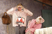 THE BIRTHDAY PARTY  by Harold Pinter  design: Jon Bausor  lighting: Jon Clark  director: David Farr    Justin Salinger (Stan), Sheila Hancock (Meg)  Lyric Hammersmith (LTH), London W6  12/05/2008...