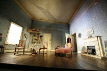 """THE DEEP BLUE SEA   by Terence Rattigan  design: Francis O""""Connor   director: Edward Hall   stage   set   empty Vaudeville Theatre, London WC2                    13/05/2008"""