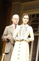 PYGMALION   by George Bernard Shaw   ,set design: Simon Higlett   costumes: Christopher Woods   director: Peter Hall <br>,Tim Pigott-Smith (Henry Higgins), Michelle Dockery (Eliza Doolittle),Theatre R...