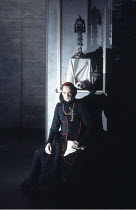 THE DUCHESS OF MALFI by John Webster design and direction: Philip Prowse  lighting: Gerry Jenkinson ~Edward Petherbridge (The Cardinal)~Lyttelton Theatre, National Theatre (NT), London SE1  04/07/1985...