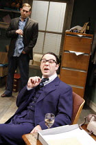 THE COMMON PURSUIT   by Simon Gray   design: Anthony Lamble   director: Fiona Laird <br>,Reece Shearsmith (Nick) with (rear) Ben Caplan (Martin),Menier Chocolate Factory / London SE1        27/05/2008...