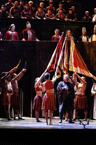 AIDA   by Verdi   conductor: Carlo Rizzi   ,set design: Yannis Thavoris   costumes: Emma Ryott   lighting: Paul Pyant   director: John Caird <br>,top left: Margaret Jane Wray (Amneris), David Soar (Th...
