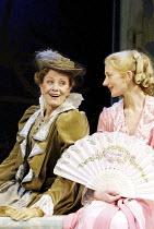 LADY WINDERMERE'S FAN by Oscar Wilde  design: John Gunter  lighting: Jon Buswell  director: Peter Hall <br>~Vanessa Redgrave (Mrs Erlynne), Joely Richardson (Lady Windermere) ~Theatre Royal Haymarket,...
