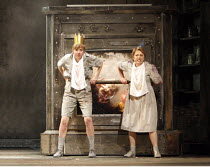 HANSEL AND GRETEL   by Humperdinck   conductor: Thomas R�sner   ,design: John McFarlane   lighting: Jennifer Tipton   original director: Richard Jones <br>,the Witch burns, trapped in the oven - l-r:...