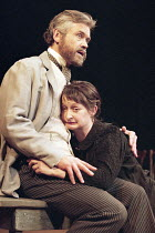 THE SEAGULL   by Anton Chekhov   English version by Tom Stoppard   ,design: John Gunter  lighting: Mark Henderson   director: Peter Hall <br>,David Yelland (Dorn), Janine Duvitski (Masha),The Old Vic,...