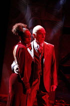 THE REVENGER'S TRAGEDY   by Thomas Middleton   design: Ti Green & Melly Still   lighting: Paul Anderson   director: Melly Still <br>,Adjoa Andoh (The Duchess), Ken Bones (The Duke)   ,Olivier Theatre...