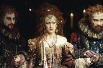 THE REVENGER^S TRAGEDY   by Cyril Tourneur / Thomas Middleton   design: Michael Levine   director: Di Trevis <br>,centre: Julie Legrand (The Duchess)  ,Royal Shakespeare Company (RSC) / Pit Theatre, B...