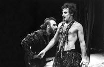 THE REVENGER^S TRAGEDY   by Cyril Tourneur / Thomas Middleton   design: Michael Levine   director: Di Trevis <br>,l-r: Antony Sher (Vindice), Nicholas Farrell (Lussurioso),Royal Shakespeare Company (R...