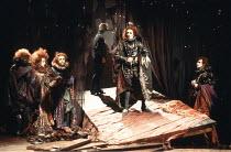 THE REVENGER^S TRAGEDY   by Cyril Tourneur / Thomas Middleton   design: Michael Levine   director: Di Trevis <br>,left centre: Julie Legrand (The Duchess)   right: Nicholas Farrell (Lussurioso),Royal...