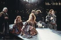 THE REVENGER^S TRAGEDY   by Cyril Tourneur / Thomas Middleton   design: Michael Levine   director: Di Trevis <br>,centre: Julie Legrand (The Duchess)   right: Nicholas Farrell (Lussurioso),Royal Shake...