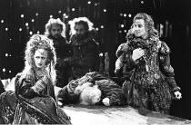 THE REVENGER^S TRAGEDY   by Cyril Tourneur / Thomas Middleton   design: Michael Levine   director: Di Trevis <br>,left: Julie Legrand (The Duchess)   right: Nicholas Farrell (Lussurioso),Royal Shakesp...