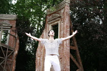 ROMEO AND JULIET   by Shakespeare   set design: Robert Innes Hopkins   costumes: Fotini Dimou   director: Timothy Sheader <br>,Nicholas Shaw (Romeo)   ,Open Air Theatre (OAT) / Regent^s Park, London N...