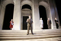 AFTERLIFE   by Michael Frayn   set design: Peter Davison   costumes: Sue Willmington   lighting: Neil Austin   director: Michael Blakemore <br>,l-r: Selina Griffiths (Gusti Adler), Roger Allam (Max Re...
