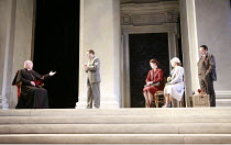 AFTERLIFE   by Michael Frayn   set design: Peter Davison   costumes: Sue Willmington   lighting: Neil Austin   director: Michael Blakemore <br>,l-r: David Burke (Prince Archbishop of Salzburg), Roger...