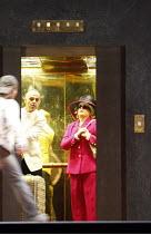 ARIADNE AUF NAXOS   by Richard Strauss   conductor: Mark Elder   ~design: Herbert Murauer   lighting: Jennifer Tipton   director: Christof Loy ~in the elevator: Wolfgang Barta (The Major Domo), Debora...