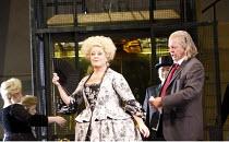 ARIADNE AUF NAXOS   by Richard Strauss   conductor: Mark Elder   design: Herbert Murauer   lighting: Jennifer Tipton   director: Christof Loy ~centre: Deborah Voigt (Prima Donna)   right: Thomas Allen...