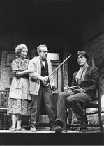 ENJOY   by Alan Bennett   set design: Douglas Heap   costumes: Deirdre Clancy   lighting: Nick Chelton   director: Ronald Eyre   l-r: Joan Plowright (Connie Craven), Colin Blakely (Wilfred Craven),...