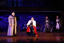 RICHARD III   by Shakespeare   design: Philip Witcomb   director: Ben Crocker   l-r: Stuart Organ (Buckingham), John Killoran (Richard III) co-production with Exeter Northcott Theatre Company / Ludl...