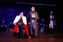 RICHARD III   by Shakespeare   design: Philip Witcomb   director: Ben Crocker   l-r: John Killoran (Richard III), William Oxborrow (Ratcliffe) co-production with Exeter Northcott Theatre Company / L...