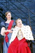 RICHARD III   by Shakespeare   design: Philip Witcomb   director: Ben Crocker   II/i: Saskia Portway (Elizabeth), Oliver Beamish (King Edward IV) co-production with Exeter Northcott Theatre Company...