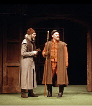 'MUCH ADO ABOUT NOTHING' (Shakespeare - director: Peter Gill) l-r: Leonard Fenton (Verges), Brian Glover (Dogberry) Olivier Theatre / National Theatre, London SE1       14/08/1981