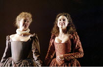 'MUCH ADO ABOUT NOTHING' (Shakespeare - director: Michael Boyd) (left: Deidra Morris - Ursula)   right: Emily Bruni (Hero) Royal Shakespeare Company / Royal Shakespeare Theatre   Stratford-upon-Avon...