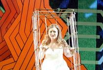 THE MAGIC FLUTE (Die Zauberflote) by Mozart   conductor: Jane Glover   design: Tom Phillips   lighting: Peter Mumford   director: Simon Callow   Fflur Wyn (Pamina) imprisoned by Monostatos Opera Hol...