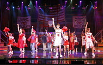 HIGH SCHOOL MUSICAL - LIVE ON STAGE   director: Jeff Calhoun ~front left: Claire-Marie Hall (Gabriella Montez)   centre: Mark Evans (Troy Bolton)~Disney Theatrical Production / Hammersmith Apollo, Lon...