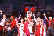 HIGH SCHOOL MUSICAL - LIVE ON STAGE   director: Jeff Calhoun ~centre left: Mark Evans (Troy Bolton), Claire-Marie Hall (Gabriella Montez)~Disney Theatrical Production / Hammersmith Apollo, London W6...