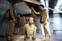 FANSHEN   by David Hare   design: Chris Gylee   director: Roland Smith ~on trial - centre: Andy Bainbridge~TheatreDelicatessen / 295 Regent Street, London W1     08/07/2008