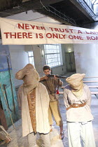 FANSHEN   by David Hare   design: Chris Gylee   director: Roland Smith ~executions - centre: Isaac Jones~TheatreDelicatessen / 295 Regent Street, London W1     08/07/2008