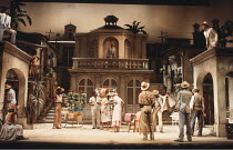 MEASURE FOR MEASURE   by Shakespeare   set design: Eileen Diss   costumes: Lindy Hemming   director: Michael Rudman   top right: Peter Straker (Lucio) Lyttelton Theatre / National Theatre (NT), Lond...