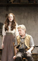 IVANOV   by Chekhov   in a new version by Tom Stoppard   ~design: Christopher Oram   lighting: Paule Constable   director: Michael Grandage ~Andrea Riseborough (Sasha), Kenneth Branagh (Ivanov)~Donmar...