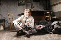 IVANOV   by Chekhov   in a new version by Tom Stoppard   design: Christopher Oram   lighting: Paule Constable   director: Michael Grandage ~l-r: Kevin R McNally (Lebedev), Kenneth Branagh (Ivanov)~Don...
