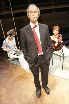 LEAVING   by Vaclav Havel   director: Sam Walters ~l-r: Faye Castelow (Zuzana), Geoffrey Beevers (Dr. Vilem Rieger), Carolyn Backhouse (Irena)~Orange Tree Theatre, Richmond, Surrey, England         23...