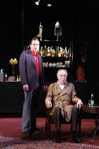 NO MAN'S LAND   by Harold Pinter   design: Giles Cadle   lighting: Neil Austin   director: Rupert Goold ~l-r: David Walliams (Foster), Michael Gambon (Hirst)~Gate Theatre Dublin production / Duke of Y...