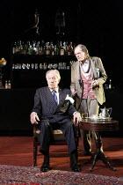 NO MAN'S LAND   by Harold Pinter   design: Giles Cadle   lighting: Neil Austin   director: Rupert Goold ~l-r: Michael Gambon (Hirst), David Bradley (Spooner)~Gate Theatre Dublin production / Duke of Y...