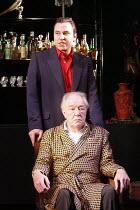 NO MAN'S LAND   by Harold Pinter   design: Giles Cadle   lighting: Neil Austin   director: Rupert Goold ~Michael Gambon (Hirst), David Walliams (Foster)~Gate Theatre Dublin production / Duke of York's...