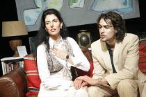 AUGUSTA   by Alan Franks   design: Norman Coates   director: Chrys Salt   Antonia Frering (Augusta), James Palmer (Daniel) New End Theatre, London NW3                      10/10/2008
