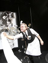 THE DYING OF TODAY   by Howard Barker   ~design: Tomas Leipzig   lighting: Ace McCarron   director: Gerrard McArthur ~George Irving (The Barber)~The Wrestling School / Arcola Theatre, London E8     22...