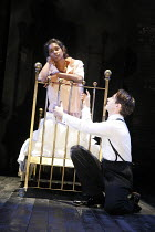 ROMEO AND JULIET by Shakespeare design: Kandis Cook lighting: Bruno Poet director: Neil Bartlett ~II/ii: Anneika Rose (Juliet), David Dawson (Romeo)~Royal Shakespeare Company (RSC) on tour / Theatre R...
