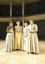 LOVE'S LABOUR'S LOST   by Shakespeare   ~design: Christopher Woods   lighting: James Whiteside   director: Peter Hall ~l-r: Susie Trayling (Rosaline), Rachel Pickup (Princess of France), Nelly Barker...