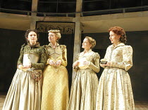 LOVE'S LABOUR'S LOST   by Shakespeare   design: Christopher Woods   lighting: James Whiteside   director: Peter Hall ~l-r: Susie Trayling (Rosaline), Rachel Pickup (Princess of France), Nelly Barker (...
