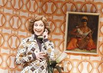 ABSENT FRIENDS   by Alan Ayckbourn   design: Emma Wee   director: Brigid Larmour ~Sally Ann Triplett (Marge)~Watford Palace Theatre, Watford / England  07/10/2008